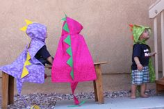 Dino Cape with Hood - Dinosaur Costume - By MaukyJo