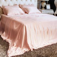 silk bed linen_Tea Rose #silk #bed