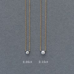 yukinohana necklace|サイズは、0.06ctと0.10ctの2種類。 はじめてダイヤモンドのネックレスを持たれる方、ささやかなおしゃれを愉しみたいなら、小ぶりの0.06ctを。一粒ダイヤならではの存在感のある輝きを求めるなら0.10ctを。好みに合わせてお選びください。 Gold Necklace, Jewels, Fashion, Accessories, Moda, Fashion Styles, Gemstones, Jewerly, Jewlery