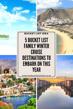 5 bucket list family winter cruise destinations. Where to set sail to this year. Holiday ideas #cruising #familytravel #travel #family #bucketlist