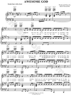 our god is an awesome god sheet music