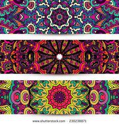 Mandalas Fotos, imágenes y retratos en stock   Shutterstock Mandala Art, Mandala Rocks, Abstract Watercolor Art, Book Markers, Motif Design, En Stock, Printable Designs, Colorful Pictures, African Art