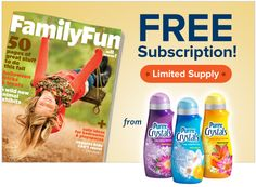 Win a FREE subscription to FamilyFun magazine from Purex Crystals