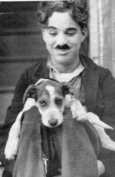 "Charlie Chaplin on the set of ""The Kid """