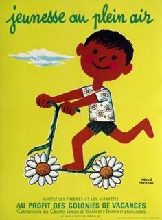 """""""Jeunesse au Plein Air"""" by Herve Morvan, cool poster for a kids room. From: www.vintagepostersonly.com"""