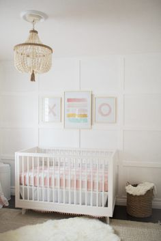 Project Nursery Bright White And Pink Baby Pastel