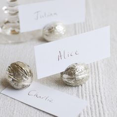 Pretty Walnut Place Card Holders