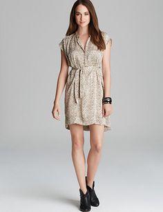 TWELFTH STREET BY CYNTHIA VINCENT Shirttail Silk Dress