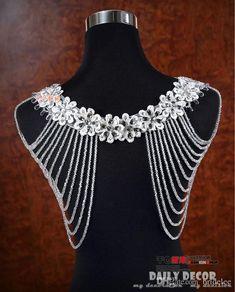2015 Luxurious Crystal Rhinestone Jewelry Bridal Wraps White Lace Wedding Shawl Jacket Bolero Jacket Wedding Dress With Beaded
