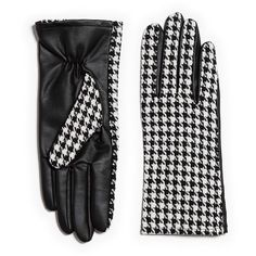 Zara Combined Gloves ($17) found on Polyvore featuring women's fashion, accessories, gloves and zara gloves