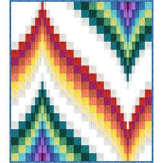 Quilt Inspiration: Free pattern day: Bargello Quilts Here are free patterns for bargello quilts ! The bargello technique can be used to create backgrounds for applique, to showcase landscape pr. Colchas Quilt, Bargello Quilt Patterns, Bargello Quilts, Quilt Patterns Free, Free Pattern, Jellyroll Quilts, Scrappy Quilts, Fabric Patterns, Peacock Quilt