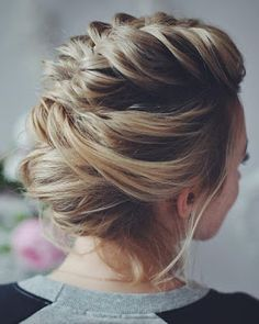 21 Wedding updos with braids Modern take on braids...
