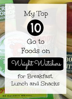 10 Super easy convenience or easy prep foods with low points for Weight Watchers!