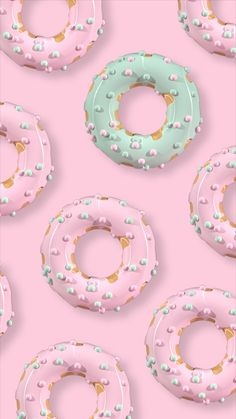 Sweet donut in Pastel Iphone Wallpaper, Iphone Homescreen Wallpaper, Pretty Phone Wallpaper, Framed Wallpaper, Flower Phone Wallpaper, Summer Wallpaper, Best Iphone Wallpapers, Kawaii Wallpaper, Love Wallpaper