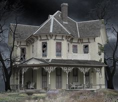 Abandoned Victorian Houses | ... adding trees so the house looks more haunted i also cracked broke some
