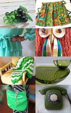 Green Is Good With TeamKitsch. by livingavntglife on Etsy--Pinned with TreasuryPin.com