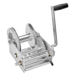 Fulton single speed winches are designed to meet the toughest of pulling demands. With marine use in mind  the hand winch provides superior corrosion resistance with a clear zinc plating and high-carbon steel gears. The 900 lbs. capacity is perfect for small marine trailers. Made from durable materials for long life use.    Features:   Fulton speed winch   Expertly crafted from premium materials   Designed to match rigorous quality standards   Corrosion resistant and durable   Made from… Winch Cable, Mechanical Advantage, High Carbon Steel, How To Make Light, Motor Parts, Fulton, Steel Frame, Gears, Truck Accessories