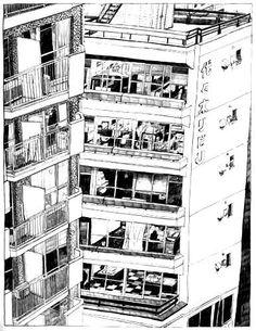 Rear window -Tokyo Sendagaya-