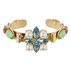 bracelet jonc collection MAGIC CIRCUS - pâte de verre, cristal et perles de Swarovski