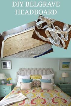 DIY a custom upholstered Belgrave headboard for a fraction of the cost of purchasing one.