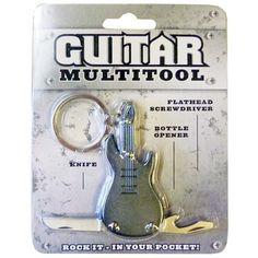Eski rockçılardan kimler kaldı?  Guitar Multi Tool, anahtarlık olmasının yanı sıra şişe açacağı, çakı ve tornavida görevi görüyor. Çok İşlevli Gitar Anahtarlık, özellikle rock müzik severlerin favorisi.