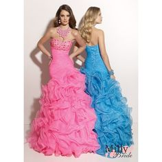 pictures of A Line Sweetheart Neckline Organza Prom Dresses PDM127 via Polyvore