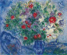Marc Chagall, LE VASE BLEU