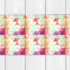 KIT Adesivos de Azulejos Ladrilhos Coloridos