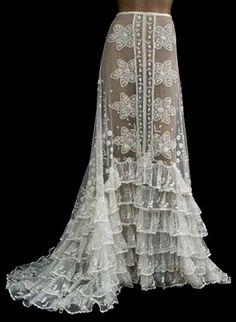 vintage lace petticoat
