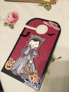 Stamped Halloween door hanger