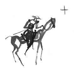 Como hiciera Azorín a comienzos del siglo XX, el escritor Julio Llamazares recrea uno de los grandes viajes de la ficción: el de don Quijote por la geografía española. Le acompañan las ilustraciones de Jesús Cisneros.