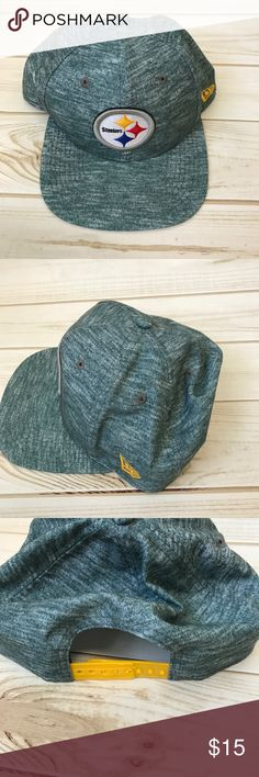 Pittsburgh Steelers• Flat bill hat• NFL One fit , turquoise color. Original Fit fit.A tiny piece on strap broke off. Does not affect wear. (See pics) brand 9fifty NFL 9fifty Accessories Hats