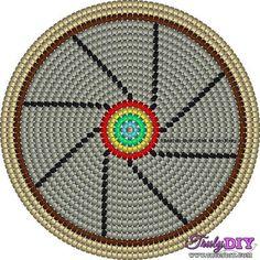 Base circular 30 Boho Tapestry, Tapestry Bag, Tapestry Crochet, Crochet Chart, Knit Crochet, Beading Patterns, Knitting Patterns, Wiggly Crochet, Mochila Crochet