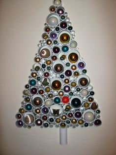 DELIGHTFUL DESIGN - Interior Design Finds For Creating Beautiful Homes - Recycled Tube Christmas Tree - I finally got round to making one!