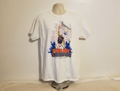 Harlem GlobeTrotters 2015 World Tour Adult Large White T-Shirt #GlobeTrotter #GraphicTee
