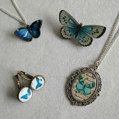 Butterfly gift set butterfly necklace butterfly by LaurasJewellery