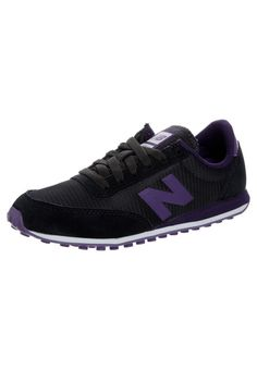 Womens Classic Trainers New Balance UL410 In Black  amp  Deep Purple Sale  Website New Balance e74da57eeb23