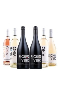 Signor Vino Mixed - 6 Bottles White Wine, Red Wine, Party Planning, Wines, Vodka Bottle, Red And White, Bottles, Alcohol, Medium