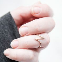 Angled Midi Ring