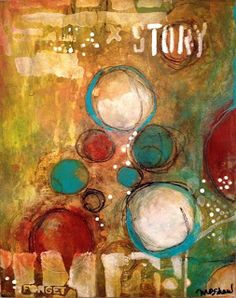 Mary Beth SHaw using her range of stencils to create this colourful piece ~ http://thealteredpage.blogspot.com.au/2013/09/stencils-in-action.html ~The Altered Page: Stencils in Action