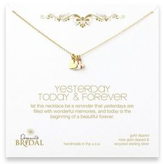 Dogeared Yesterday, Today  Forever Necklace Jewelry | Weddington Way