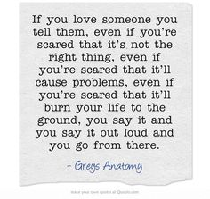 Grey's Anatomy Love Quotes I Agree With Everything… Pretty Much Except For The Hating