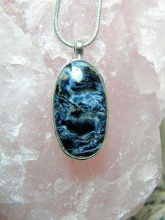 Pietersite Pendant Gemstone Jewelry Mystic Pendant by SagesLeaf