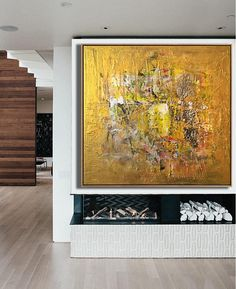 Abstract Painting Original Large Oversize Painting Yellow Painting Gold Painting Acrylic Painting On Canvas Oil Painting Original Abstract Black Art Painting, Yellow Painting, Texture Painting, Acrylic Painting Canvas, Abstract Canvas, Framed Wall Art, Wall Art Prints, Large Canvas Art, Extra Large Wall Art