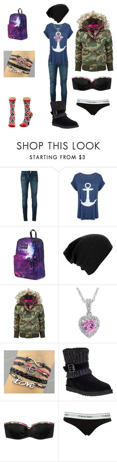 """Beginning of Infinity #9"" by cherokeejune ❤ liked on Polyvore featuring Balmain, JanSport, Superdry, UGG Australia, Victoria's Secret and Calvin Klein"