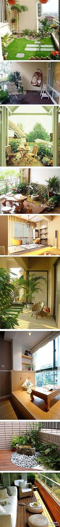 Tipos de verdes de balcones.