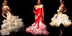 Desde Curro Durán hasta Giambattista Valli. Moda flamenca y alta costura: hoy os hablamos de vestidos con gasas ->http://lunarit0s.com/2012/12/17/gasas/