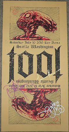 Tool Silkscreen Concert Poster Seattle 2010 Adam Jones Band Signed | eBay