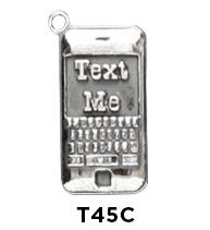 Text Me Charm $25  Sterling Silver Text Me Charm  http://www.finegifts.labellabaskets.com/