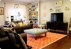Potential new wall color. Would go great w/ our brown couch and colors!